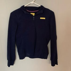 Navy quarter zip pullover